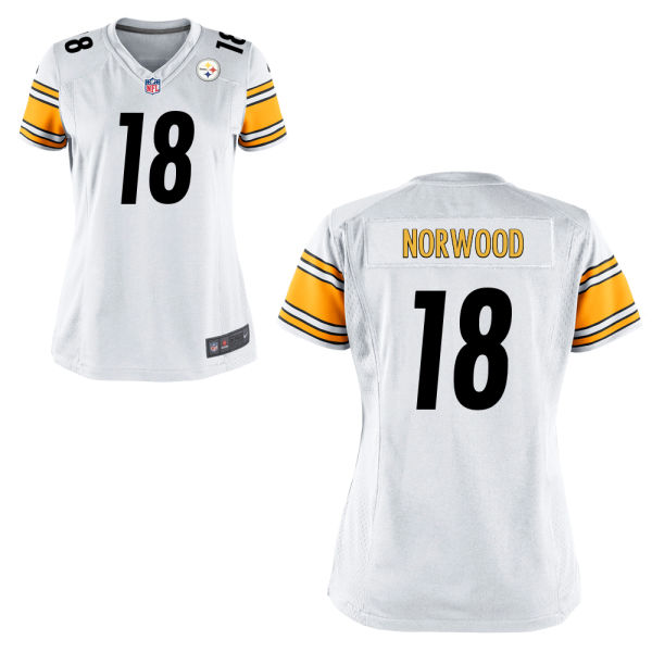 Levi Norwood Women's Nike Pittsburgh Steelers Game White Jersey