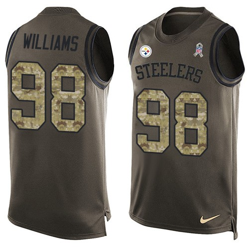 Vince Williams Nike Pittsburgh Steelers Limited Green Salute to Service Tank Top Jersey