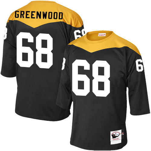 L.C. Greenwood Mitchell and Ness Pittsburgh Steelers Elite Green Black 1967 Home Throwback Jersey